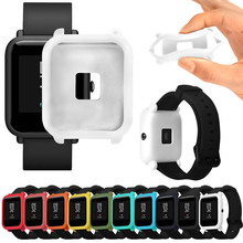 Soft TPU Protection Silicone Full Case Cover Cases for Huami Amazfit Bip Youth Watch HJ55