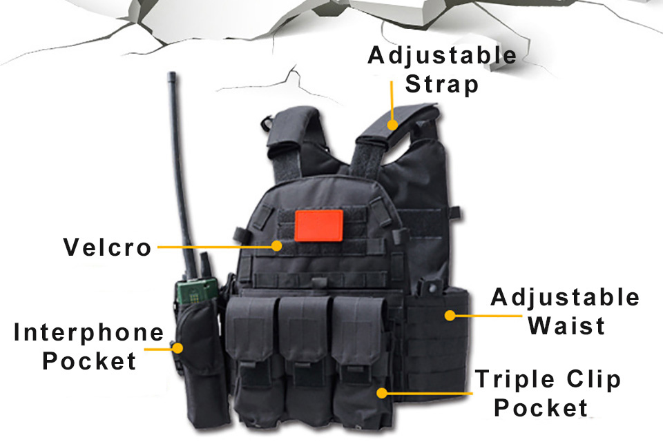 Security Airsoft Combat 600D Molle Tactical Vest Military Equipment Hunting Protective Outdoor Training Paintball Carrier Vests