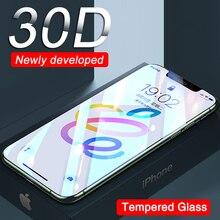 30D เต็มรูปแบบป้องกันสำหรับ iPhone 12 11 Pro XS Max XR X ป้องกันหน้าจอ iPhone 11 12 Mini XR ฟิล์มกระจกนิรภัย