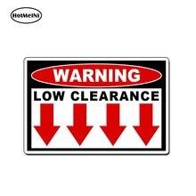 HotMeiNi – autocollant de sécurité pour Mini camion JDM 4X4, étiquette d'avertissement de dégagement bas, décalcomanie HD de style pour voiture, 13cm x 8.7cm
