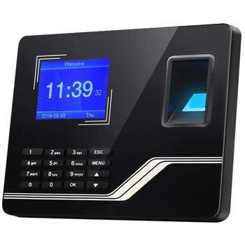 US Plug,H5 Attendance Machine Intelligent Biological Fingerprint Password Attendance Machine Employee Sign-In Recorder