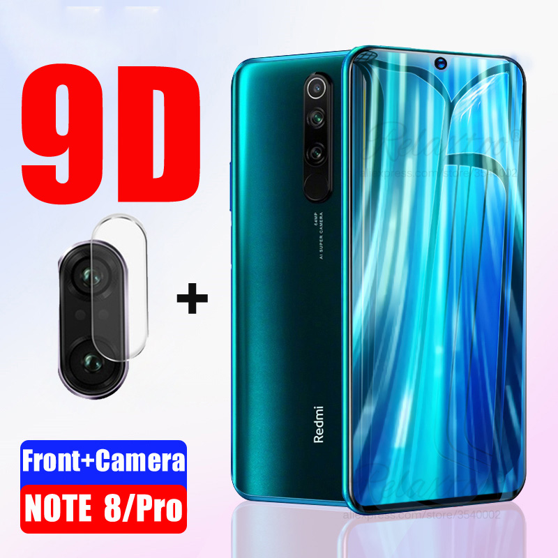 2 In 1 For Redmi Note 8 Tempered Glass For Xiaomi Redmi Note 8 Pro 8pro Full Cover Screen Protector Camera Lens Protective Film