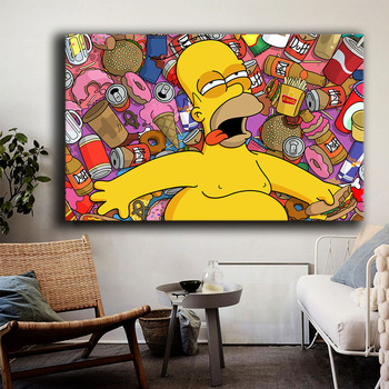 Simpsoning Abbey Road Bart Homer Marge Canvas Painting Print Living Room Home Decor Modern Wall Art Oil Painting Poster Artwork woman seated in an armchair by picasso canvas painting print living room home decor modern wall art oil painting poster artwork