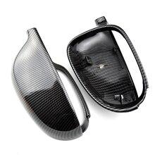 For VW Golf MK5 GTI Jetta 5 (bright black) carbon fiber Passat B6 B5.5 side mirror cover 2 piece Sharan Golf Plus Variant EO