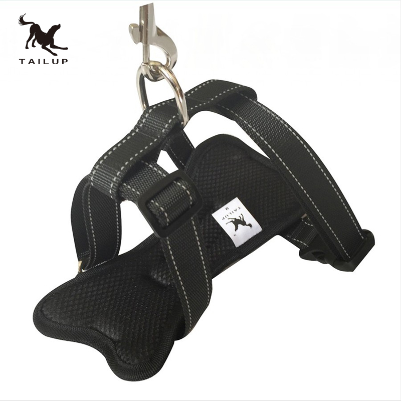 TAILUP Reflective No Pull Dog Harness for Pet Adjustment Vest With Seat Belt Leash Dogs Collars and Harnesses