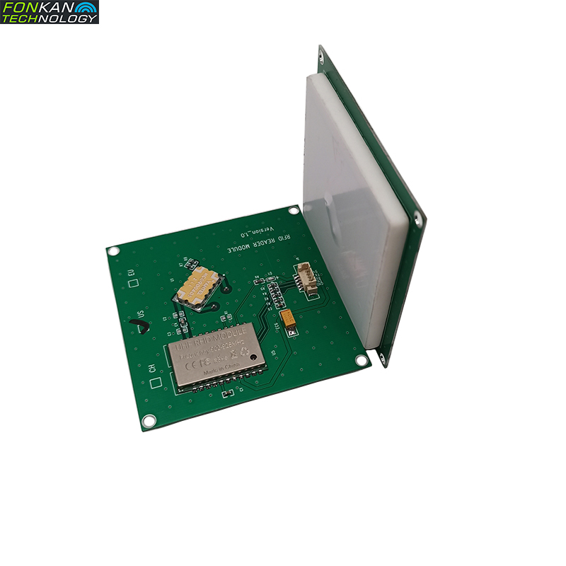FONKAN ISO18000-6C 3M Rang UHF RFID Integrated Reader Module TTL232 With 4dbi Antenna 70*70MM  865-868Mhz 902-928mhz  Free SDK