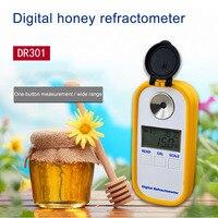 DR301 рефрактометр для мёда с цифровым дисплеем, измеритель содержания сахара, измеритель концентрации меда, рефрактометр