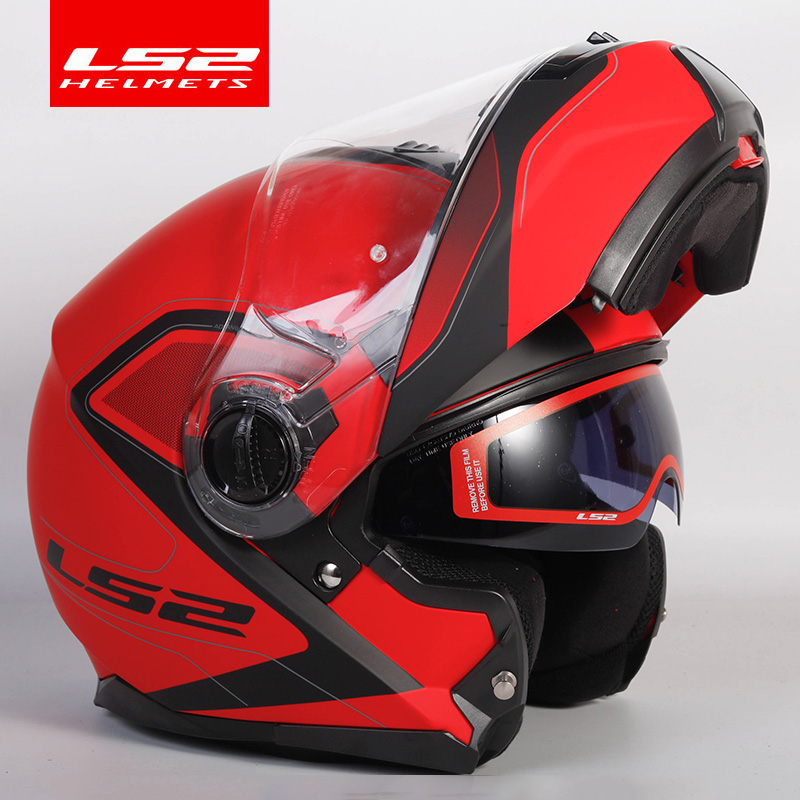 Image 5 - Original LS2 STROBE flip up motorcycle helmet ls2 ff325 full face helmets capacete cascos moto casque DOT approvedHelmets   -