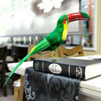 creative simulation green bird model polyethylene&furs Toucan toy gift about 42cm xf2667