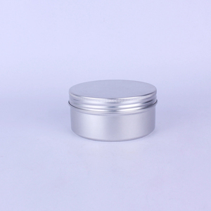 Image 4 - 20pcs 200g 200ml Empty Aluminum Cream Jar Tin Cosmetic Lip Balm Containers Nail Derocation Crafts Pot with Screw Thread