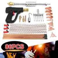 86 teile/satz Auto Body Dent Repair Puller Kit Dent Spot Reparatur Entfernung Gerät Stud Mini Schweißen Maschine Ziehen Hammer Werkzeug kit