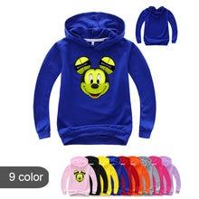 T-shirt manches longues pour garçon et Fille, en coton, avec dessin animé Mickey Mouse imprimé, printemps