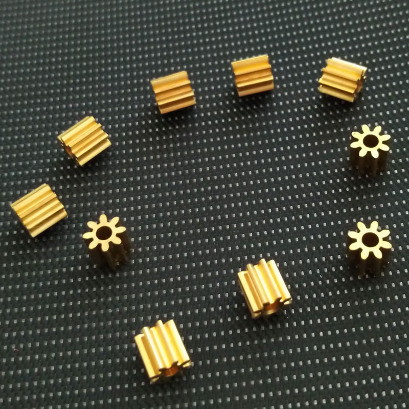 10pc DIY Toy Motor Gear 130Motor 0.5M 2mm Nylon Copper Shaft 8T/9T/12T/15T MINI 4wd Motor Gear Box Gear Reducer Gearbox RC Parts