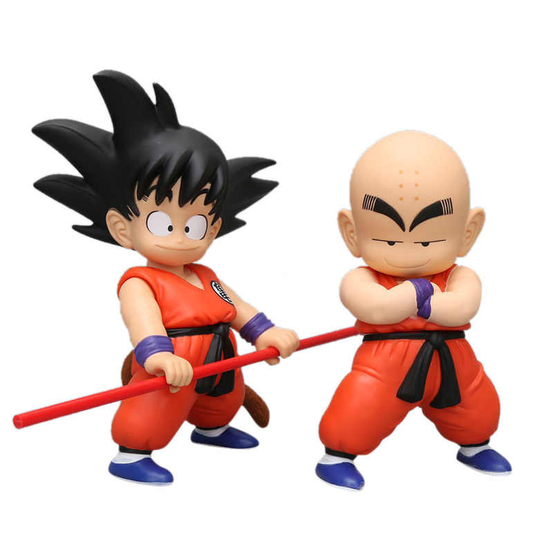 Anime Dragon Ball Z Krillin Chiaotzu Son Goku Action Figure Pvc Beeldje Model Speelgoed Mobiele Base Hot Gift