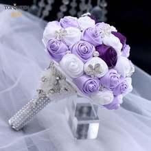 Topqueen искусственный цветок Роза buque casamento Свадебный