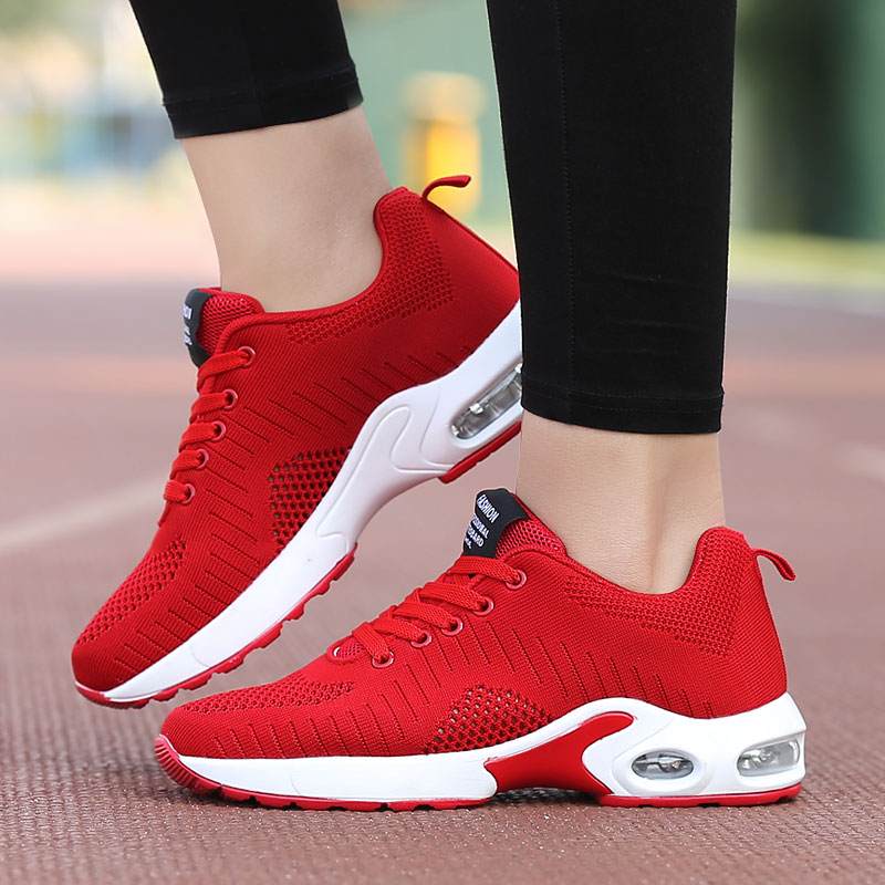 2020 Women Fashion Sneakers Summer Shoes Woman Air Mesh Cushion Ladies Damping Sport Shoes Cheap Sale Women's Flats Plus Size 42