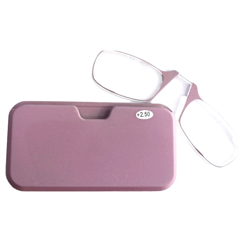 2019 Fashion HOT Tr90 Clip Nose Mini Reading Glasses High Quality Portable Sticky Women Presbyopic Glasses Magnifying 150 200