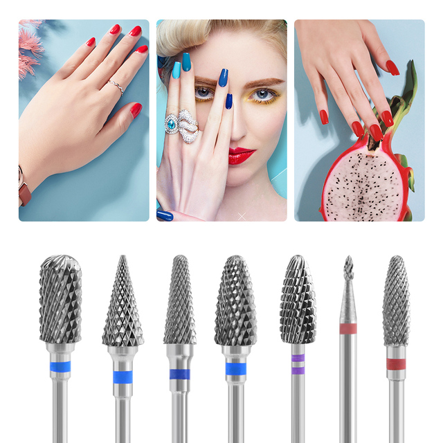 Tungsten Carbide Burr Milling Cutter For Manicure Machine Carbide Electric Nail Drill Milling Cutter For Nail Files Accessories 2