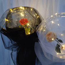 Fashion Rose Valentine's Day Gifts LED Luminous Balloon Rose Bouquet Christmas Birthday Party Wedding Decoration Present Balloon(China)