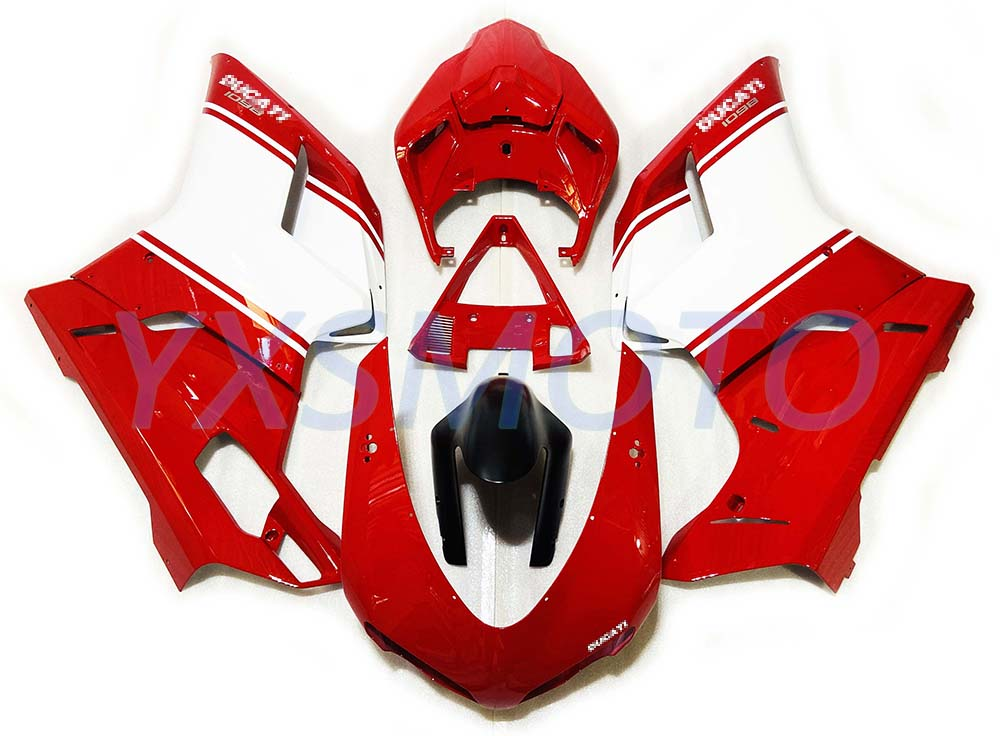 Brand New ABS Fairing 1098 1198 848 Red White Bodywork Fairing Kit 2007 2008 2009 2010 2011
