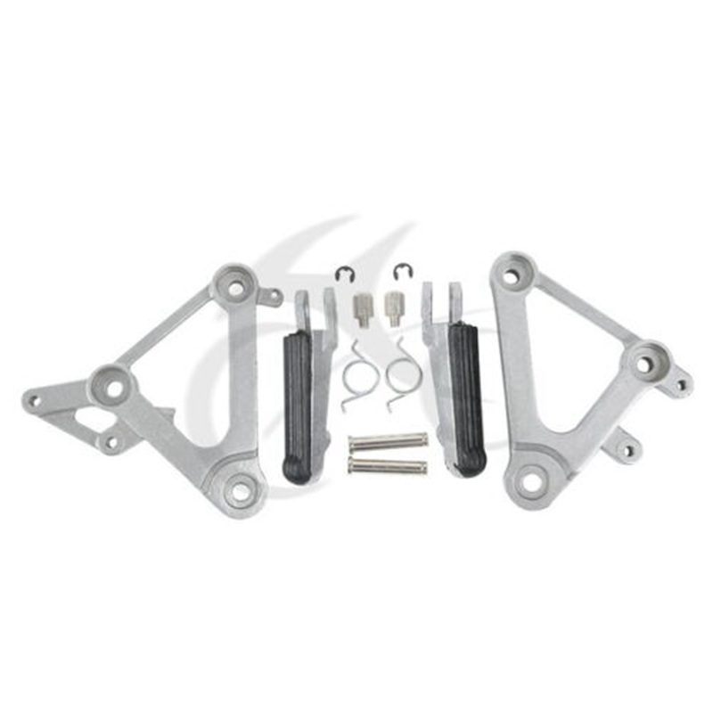 Motorcycle Front Pedals Footrest Foot Pegs Bracket Set For Honda CBR400 NC23 1988-1989