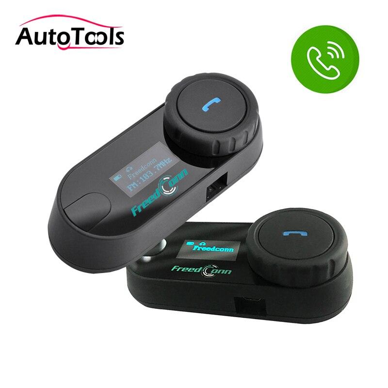 2 pièces TCOM-SC Bluetooth moto casque moto interphone casque avec Radio FM avec écran LCD moto écouteur