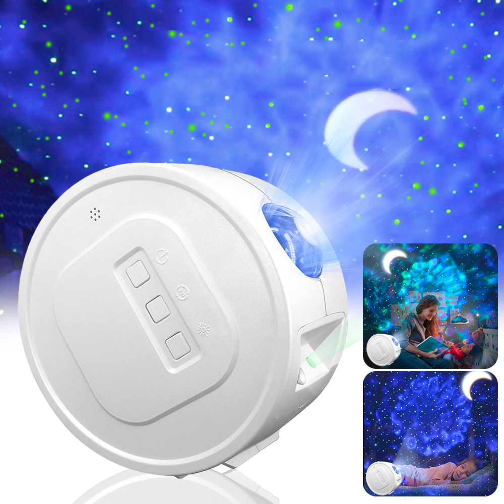 Rechargeable Remote Star Light Projector BT Bedroom Galaxy Moon LED Night Light Ultra Quiet Ocean Wave Cloud Projector