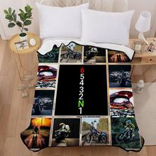 Motorcycle Pattern Indoor Soft Warm Thick Winter Bed Sofa Blanket Home Bedding