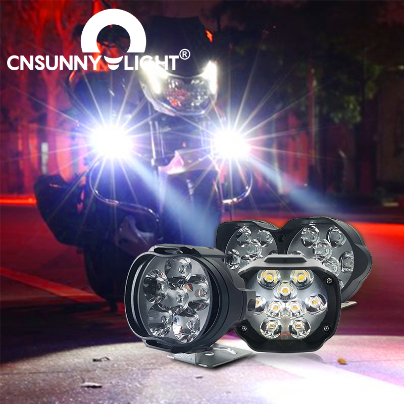 CNSUNNYLIGHT LED Car Work Spotlight Motorcycle Outdoor Camping Super Bright Headlight Fog Lamp For Jeep 4WD Auto SUV ATV Light