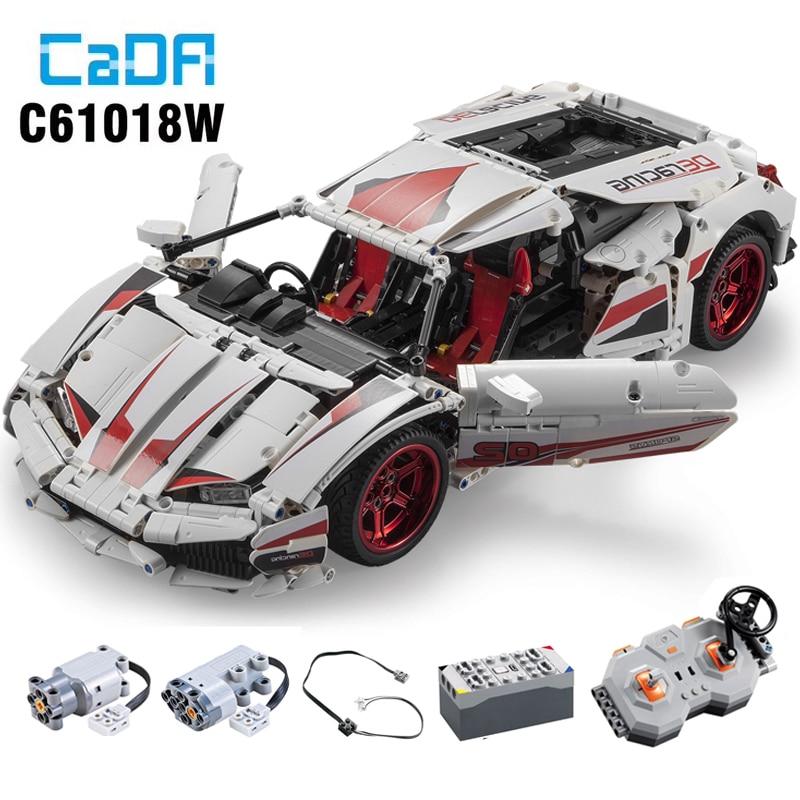 NIEUWE CADA LP610 RC Super Racing Auto Bricks Compatibel Technic Model Bouwstenen Afstandsbediening Auto Racing Speelgoed Voor Kinderen - 3
