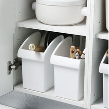 Kitchen Pot Storage Rack Storage Box Pulley Cover Pot Plastic Shelf Kitchen Utensils Storage Box Spice Plate Storage BDF(China)