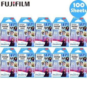 Image 1 - 10 100 sheets Fujifilm Instax Mini Film Instax Mini 11 8 9 Blue Frozen Film For Fuji Mini 7s 25 26 70 90 Instant Camera SP 1 2