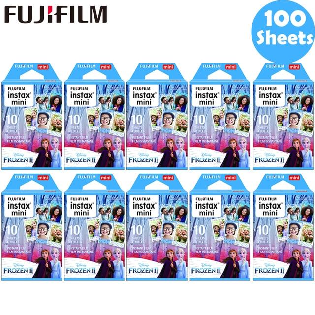 10 100 sheets Fujifilm Instax Mini Film Instax Mini 11 8 9 Blue Frozen Film For Fuji Mini 7s 25 26 70 90 Instant Camera SP 1 2