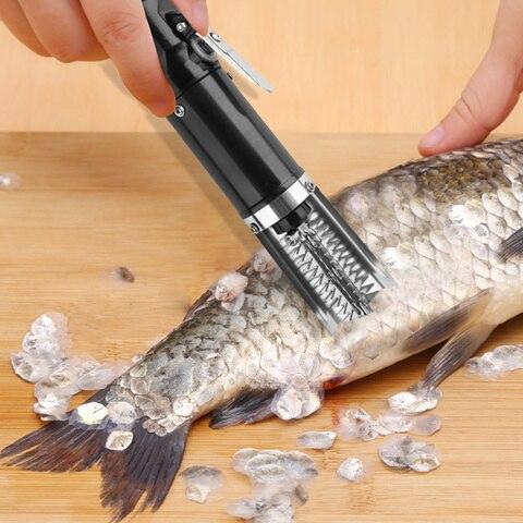 a prova dwaterproof agua eletrica peixe scalers removedor portatil rapido pesca mais limpo descaler