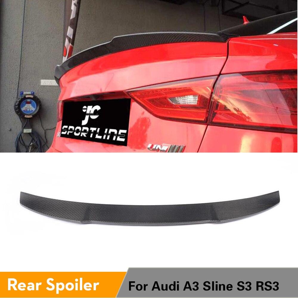 Pour Audi A3 S3 RS3 Sline 8V berline 2013-2016 aileron de coffre arrière aile de coffre aileron arrière Auto fibre de carbone/FRP non peint