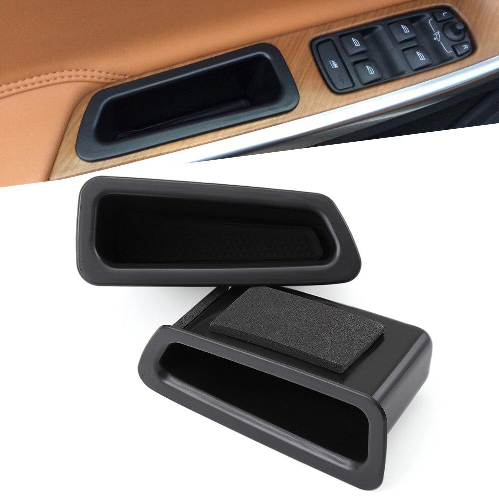 For Volvo XC60 2010 2017 Door Storage Box Parts Black Plastic Interior|Stowing Tidying| |  - title=