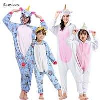 Kigurumi enfants adultes Licorne Pyjamas pour garçons filles Pyjamas femmes Animal Panda Licorne Unicornio vêtements de nuit Onesie bébé combinaison