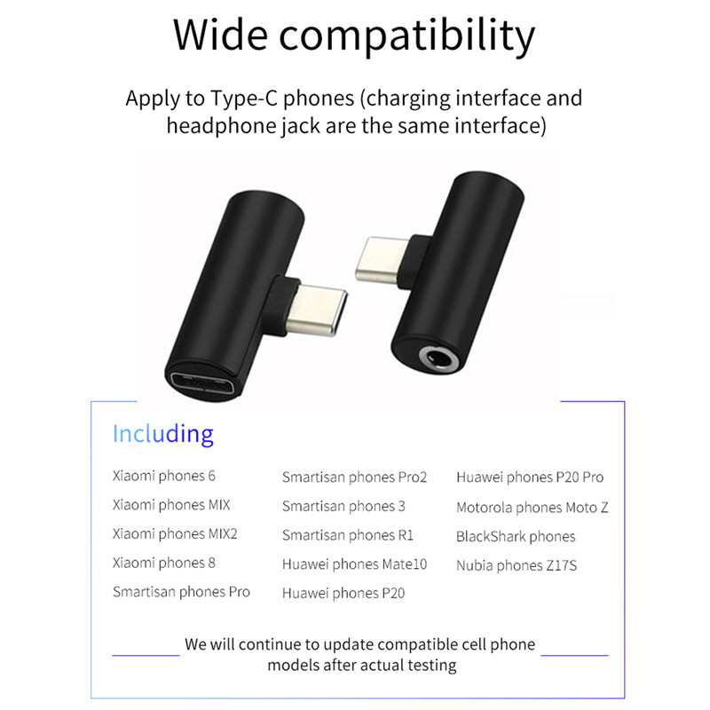 For Oneplus 7 pro 6T 6 5T 5 1 6T USB Type C to 3 5mm Jack Headphone Adapter for Lenovo Z5 Pro AUX Audio Cable Earphone Converter in Fitted Cases from Cellphones Telecommunications