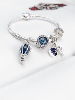2020 Fine DIY jewelry  friendship bracelets 100% 925 silver charm Balloon beads bracelet for women jewelry making