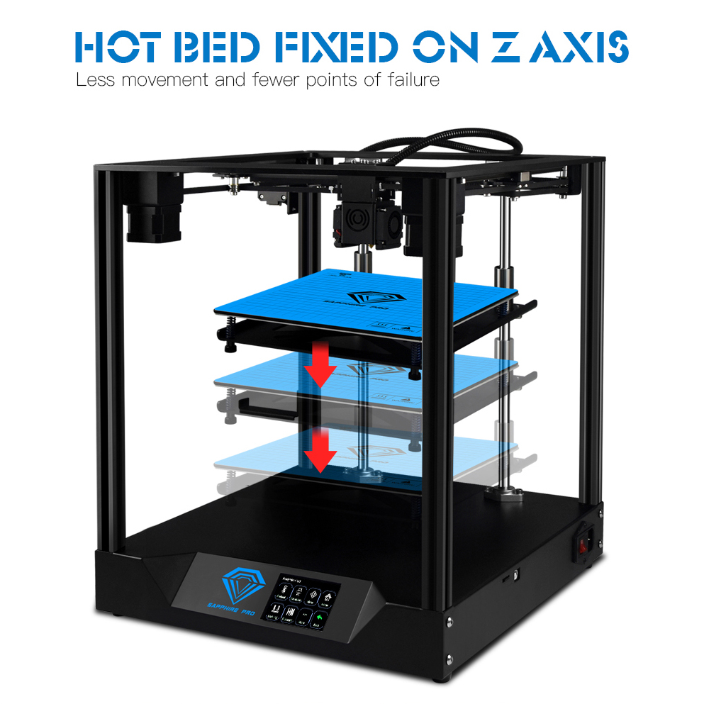 TWO TREES 3D Printer Sapphire Pro Auto Leveling BMG Extruder Full Metal Frame Core XY title=