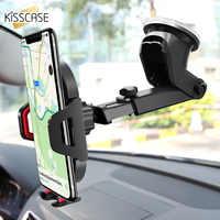 KISSCASE parabrisas gravedad Sucker soporte de teléfono de coche para iPhone X soporte para teléfono en coche soporte de teléfono móvil soporte celular soporte móvil coche soporte celular para auto