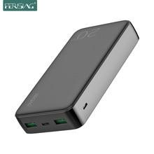 Chargeur rapide de téléphone de la batterie 20000 mAh de puissance de fermentation QC 4.0 QC3.0 20000 mah batterie externe portative pour l'iphone XiaoMi PD Powerbank