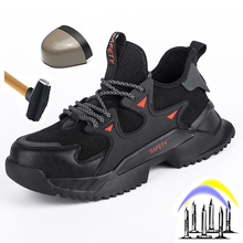 Men's Boots Safety-Shoes Lightweight Steel-Toe Outdoor Indestructible New Anti-Smash