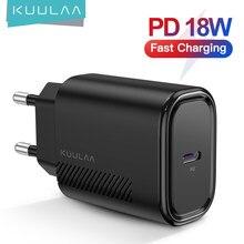 KUULAA chargeur USB 18W PD 3.0 Charge rapide 4.0 Charge rapide USB C prise chargeur de téléphone portable pour iPhone 11 Pro Max XS XR X 8