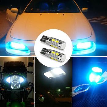 T10 10 SMD 5630 LED Projector Lens Auto Clearance Lights 5730 501 10SMD Marker Canbus LED Lamp Car W5W 1pc Parking Bulb F6X2 image