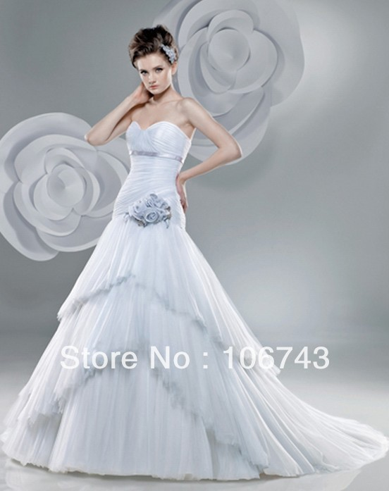 Vestido De Noiva 2018 New Design Best Sexy Brides Custom Size Sweetheart Flowers Tiered Bridal Gown Mother Of The Bride Dresses
