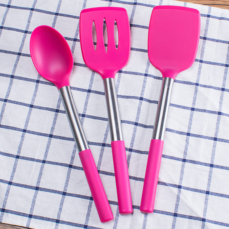 Food grade silicone kitchenware Silicone spatula Stainless steel handle Nylon nonstick special Healthy