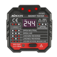 KKmoon KKM5 Digital Display Socket Detector Power Socket Wiring Detection Wall Plug Breaker Finder RCD Test Socket Tester EU