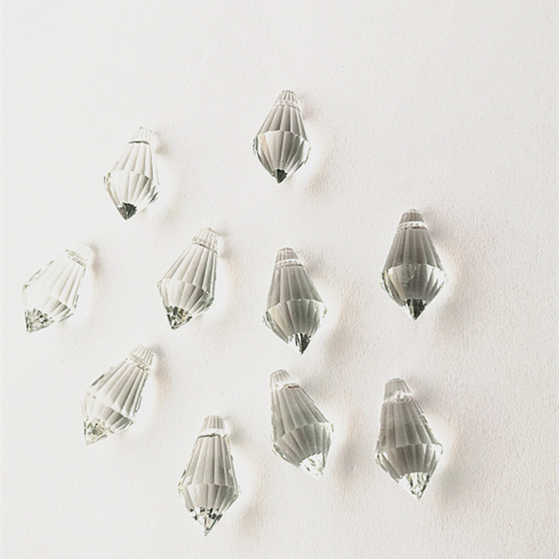 200pcs/lot 11*22mm Clear Mini Small Crystal Icicle Drop Pendant For Chandelier,crystal Curtain Accessories Parts Decoration