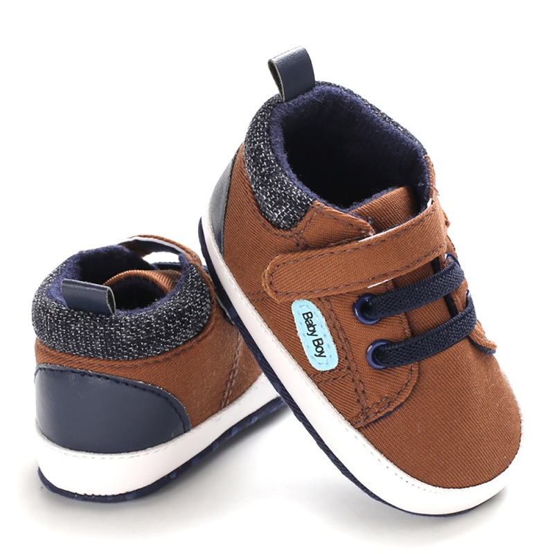 Newborn Baby Boy Soft Sole Crib Shoes Warm Boots Autumn Winter Bottom Non-slip Booties Cotton Warm Infant Crib First Walkers
